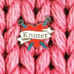Knitter Heart - Przypinka